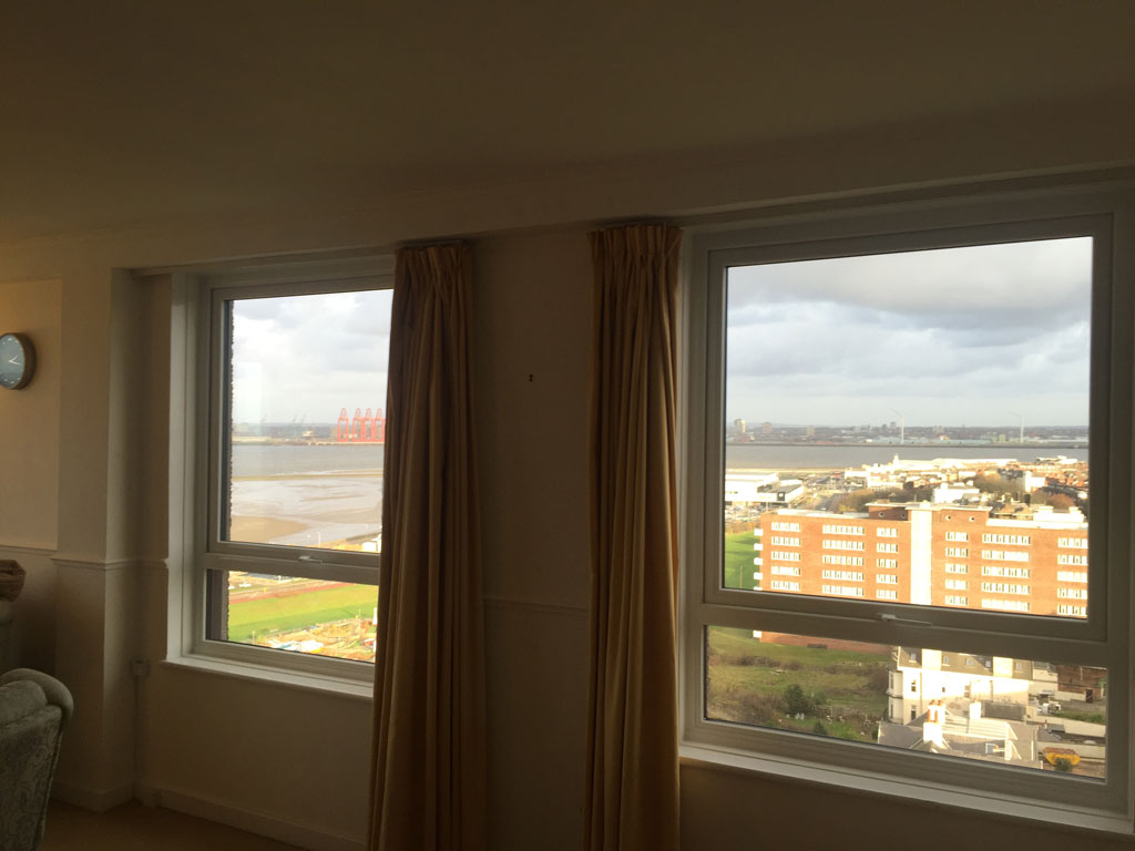 Treble Glazed Windows : Installation of upvc windows at the flats n p