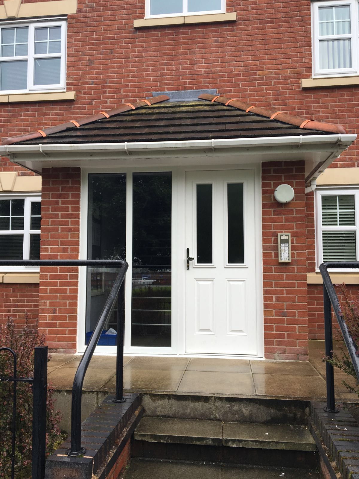 New upvc windows doors at lancaster place n p windows for Upvc french doors liverpool